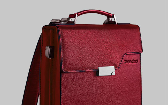 Freelance designer Eefje Sandmann Laptop bag design for Evan Red